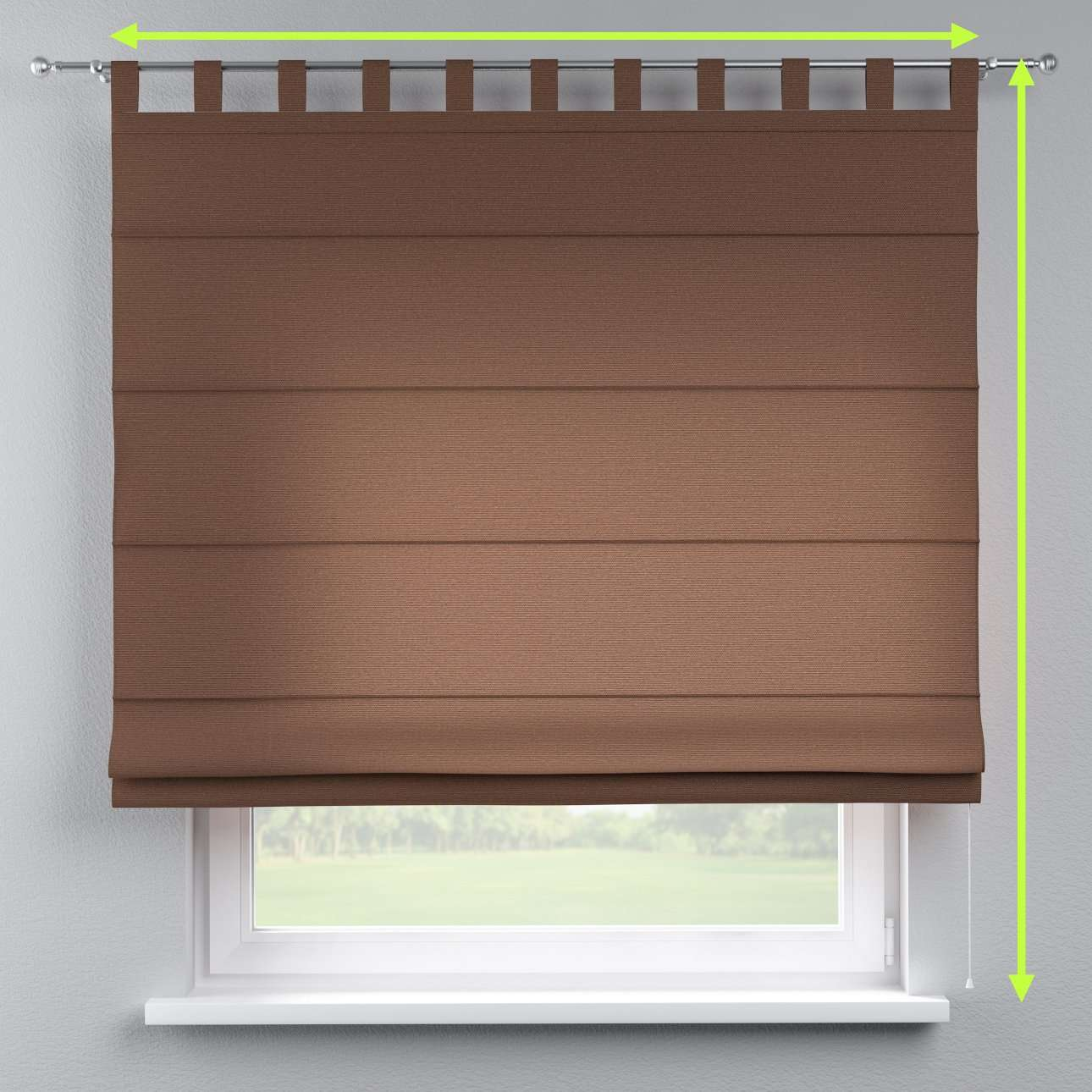 Verona tab top roman blind in collection Loneta , fabric: 133-09
