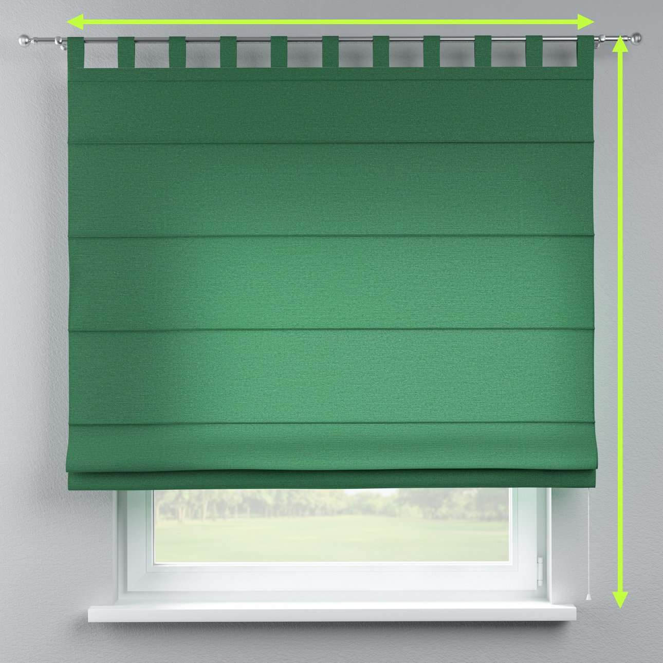 Verona tab top roman blind in collection Loneta , fabric: 133-18