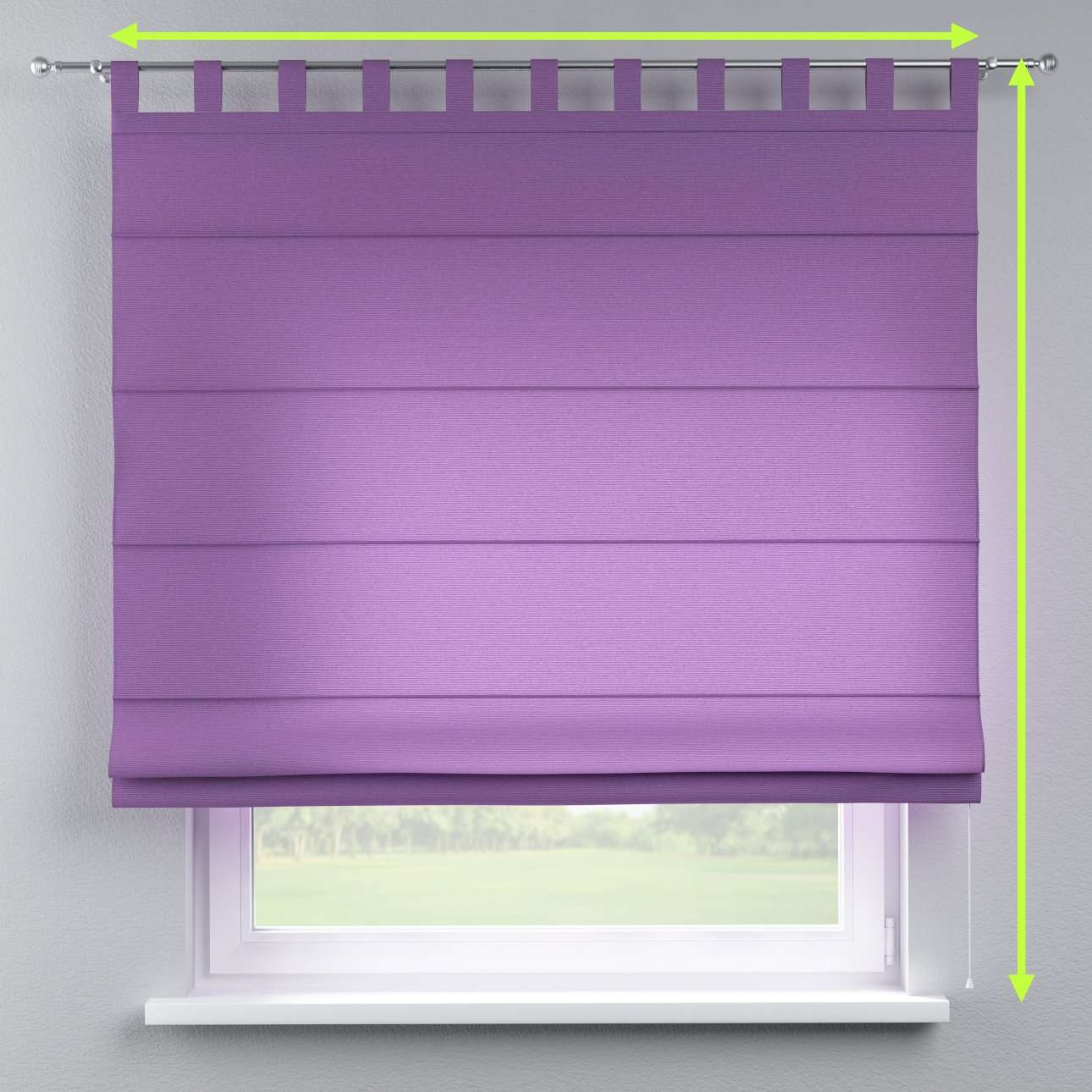 Verona tab top roman blind in collection Loneta , fabric: 133-19