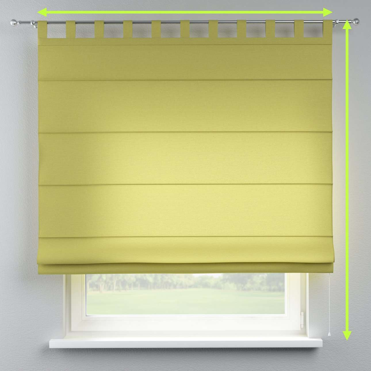 Verona tab top roman blind in collection Loneta , fabric: 133-23
