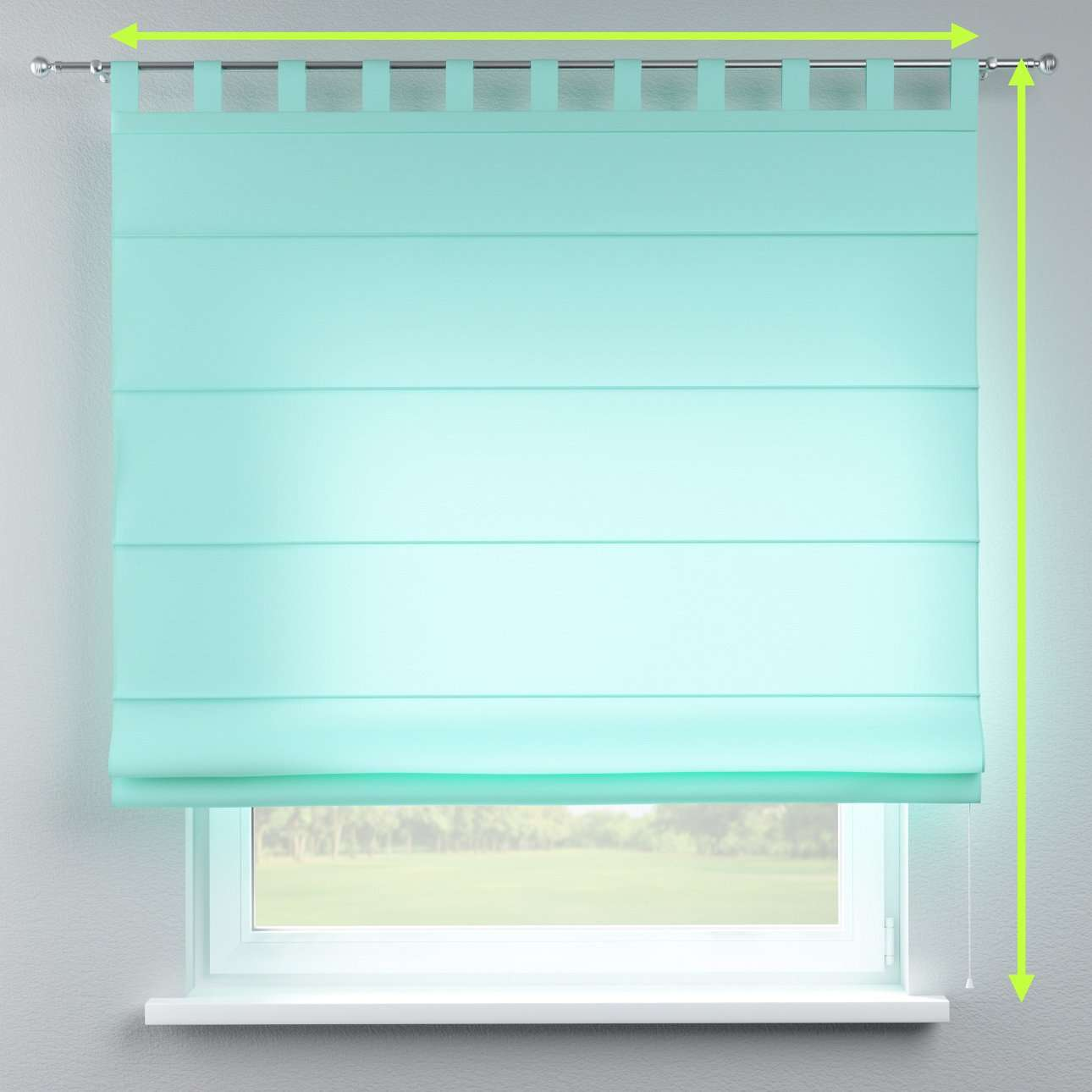 Verona tab top roman blind in collection Loneta , fabric: 133-32