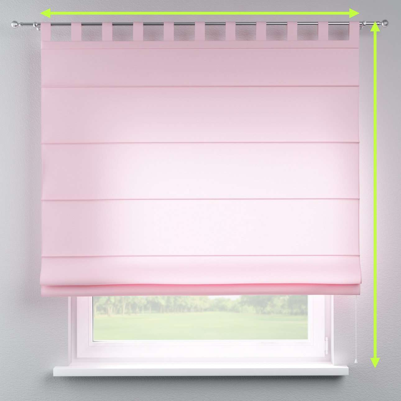 Verona tab top roman blind in collection Loneta , fabric: 133-36