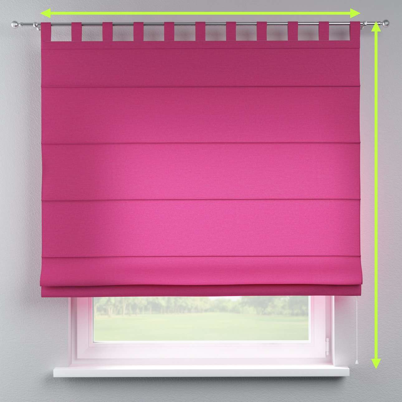 Verona tab top roman blind in collection Loneta , fabric: 133-60