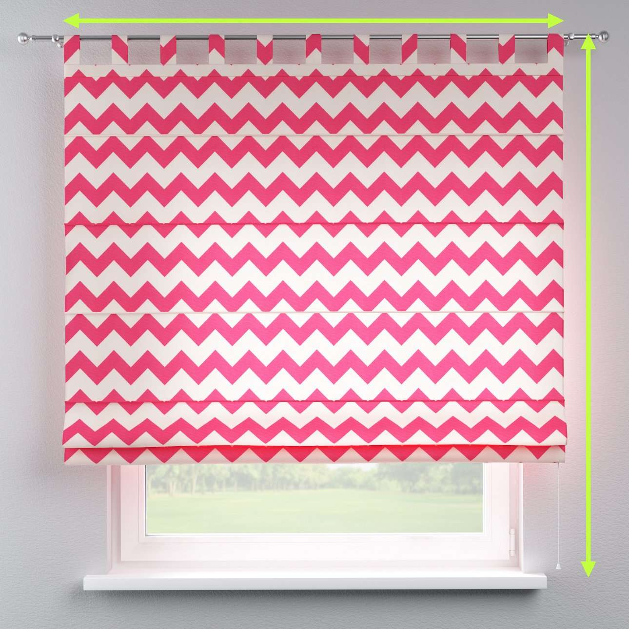 Verona tab top roman blind in collection Comic Book & Geo Prints, fabric: 135-00
