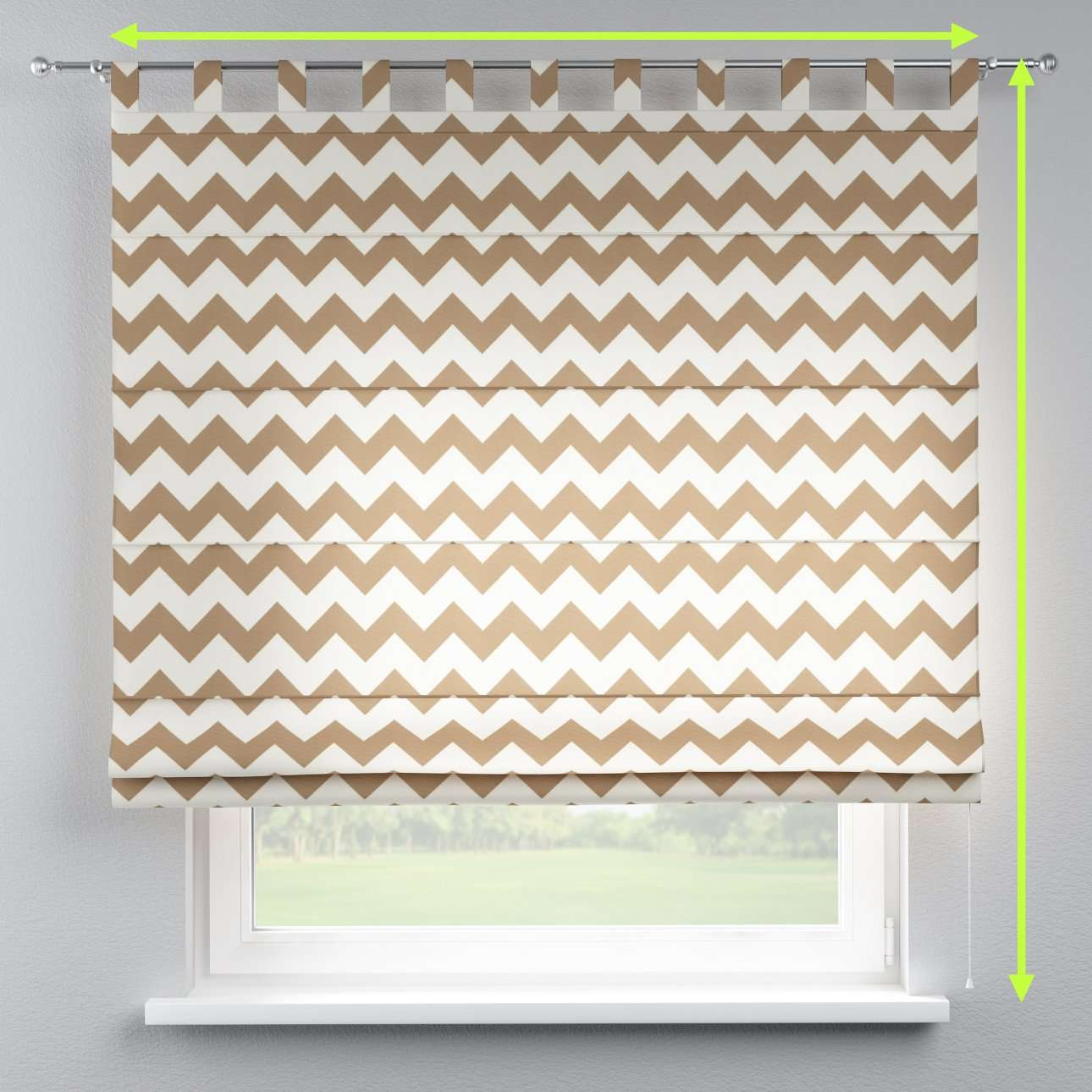 Verona tab top roman blind in collection Comic Book & Geo Prints, fabric: 135-01