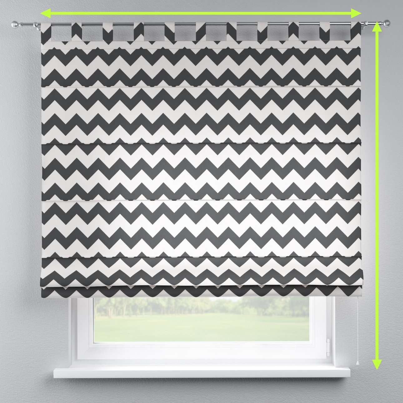 Verona tab top roman blind in collection Comic Book & Geo Prints, fabric: 135-02