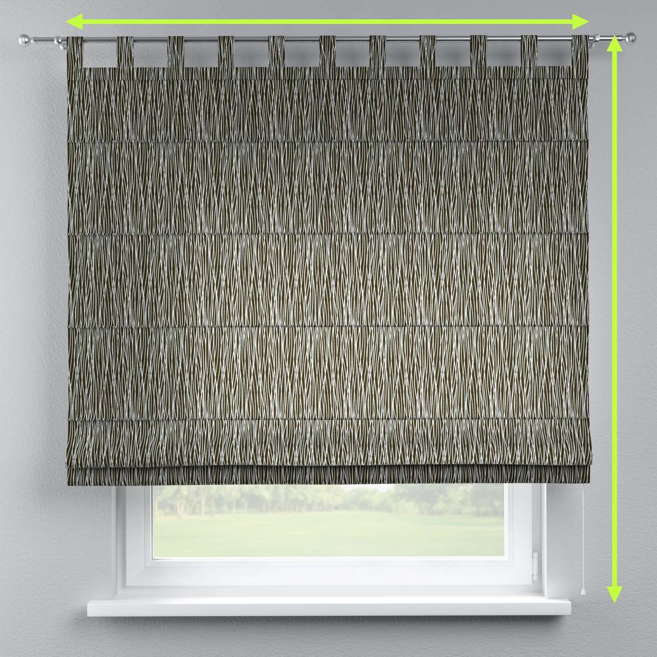 Verona tab top roman blind in collection Comic Book & Geo Prints, fabric: 135-06