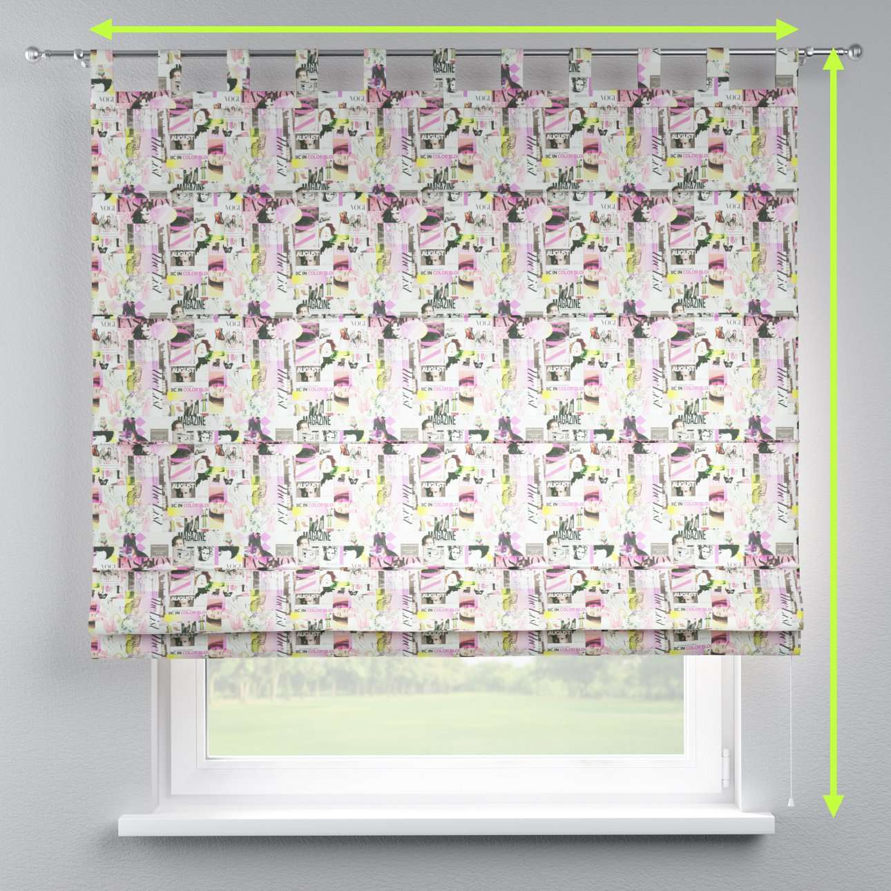 Verona tab top roman blind in collection Freestyle, fabric: 135-15
