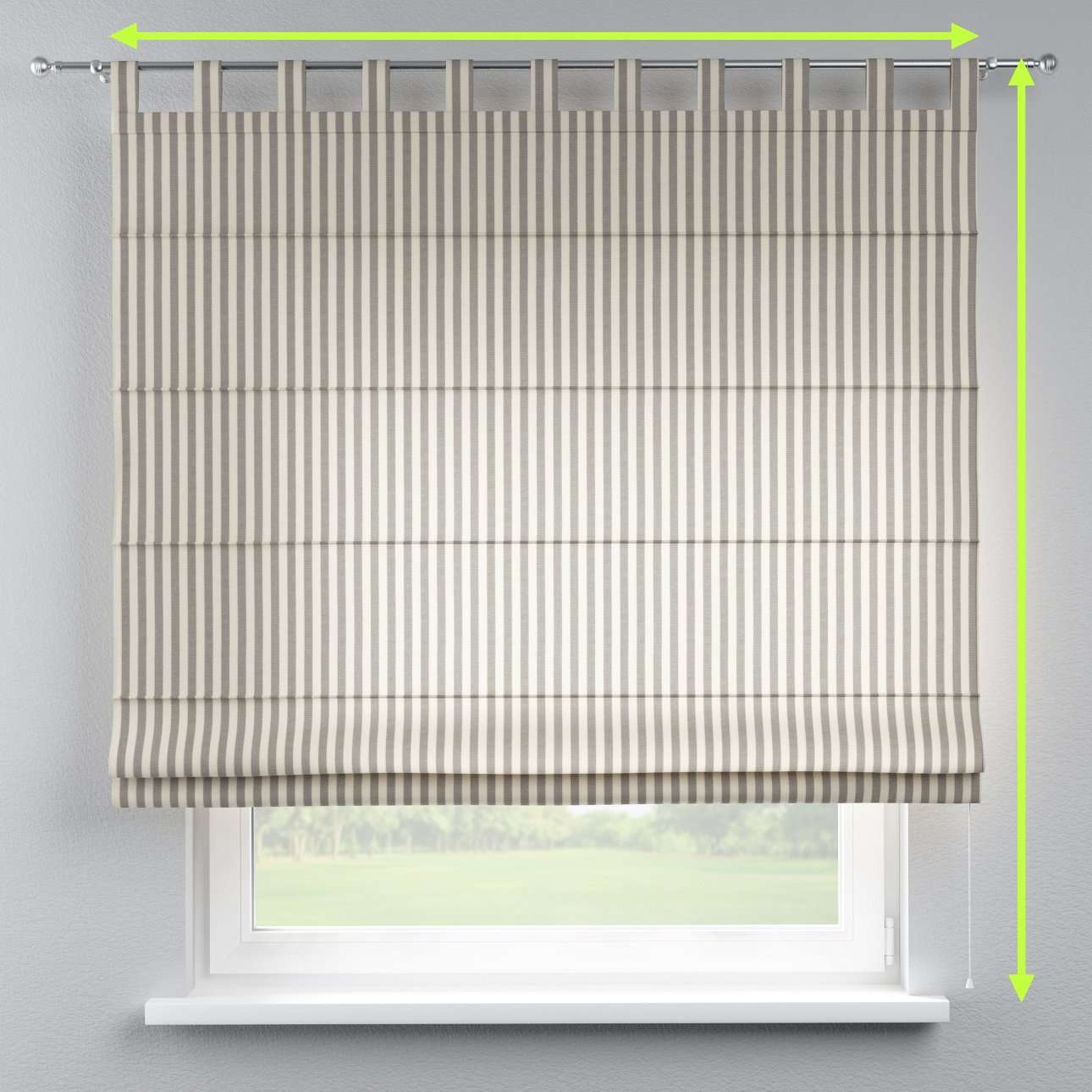 Verona tab top roman blind in collection Quadro, fabric: 136-12