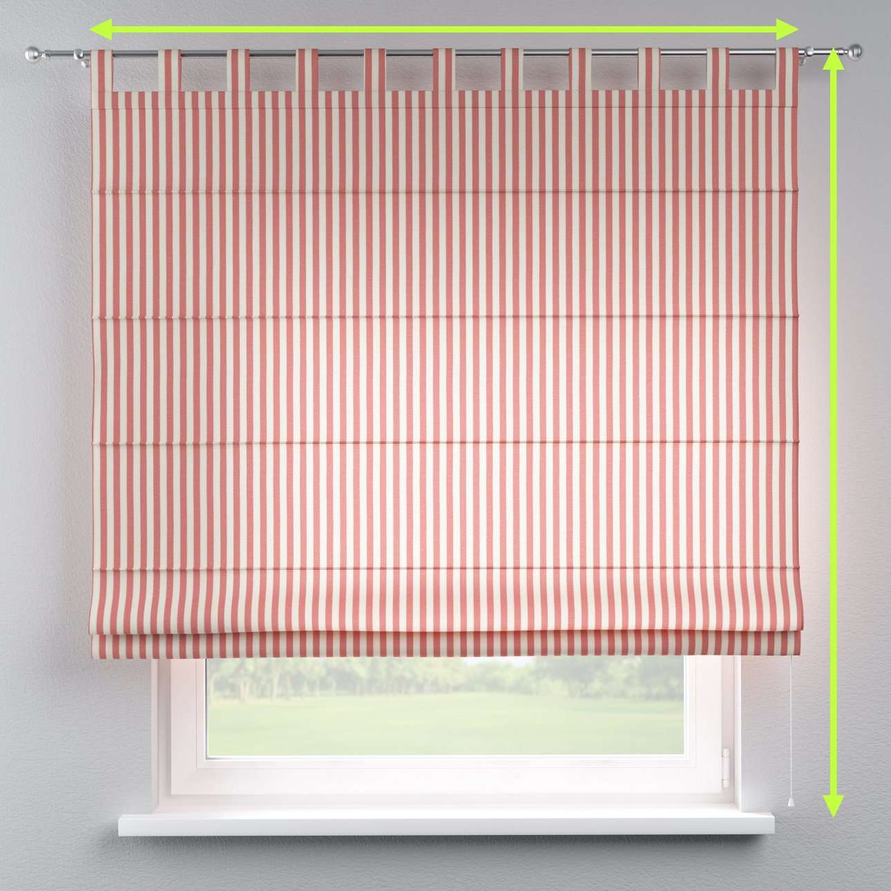 Verona tab top roman blind in collection Quadro, fabric: 136-17