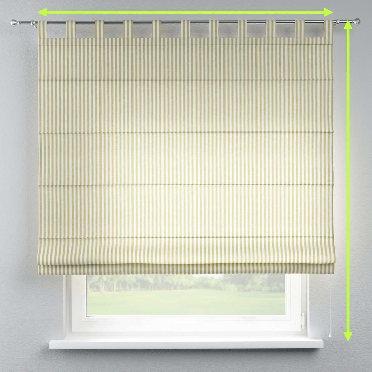 Verona tab top roman blind in collection Cardiff, fabric: 136-21