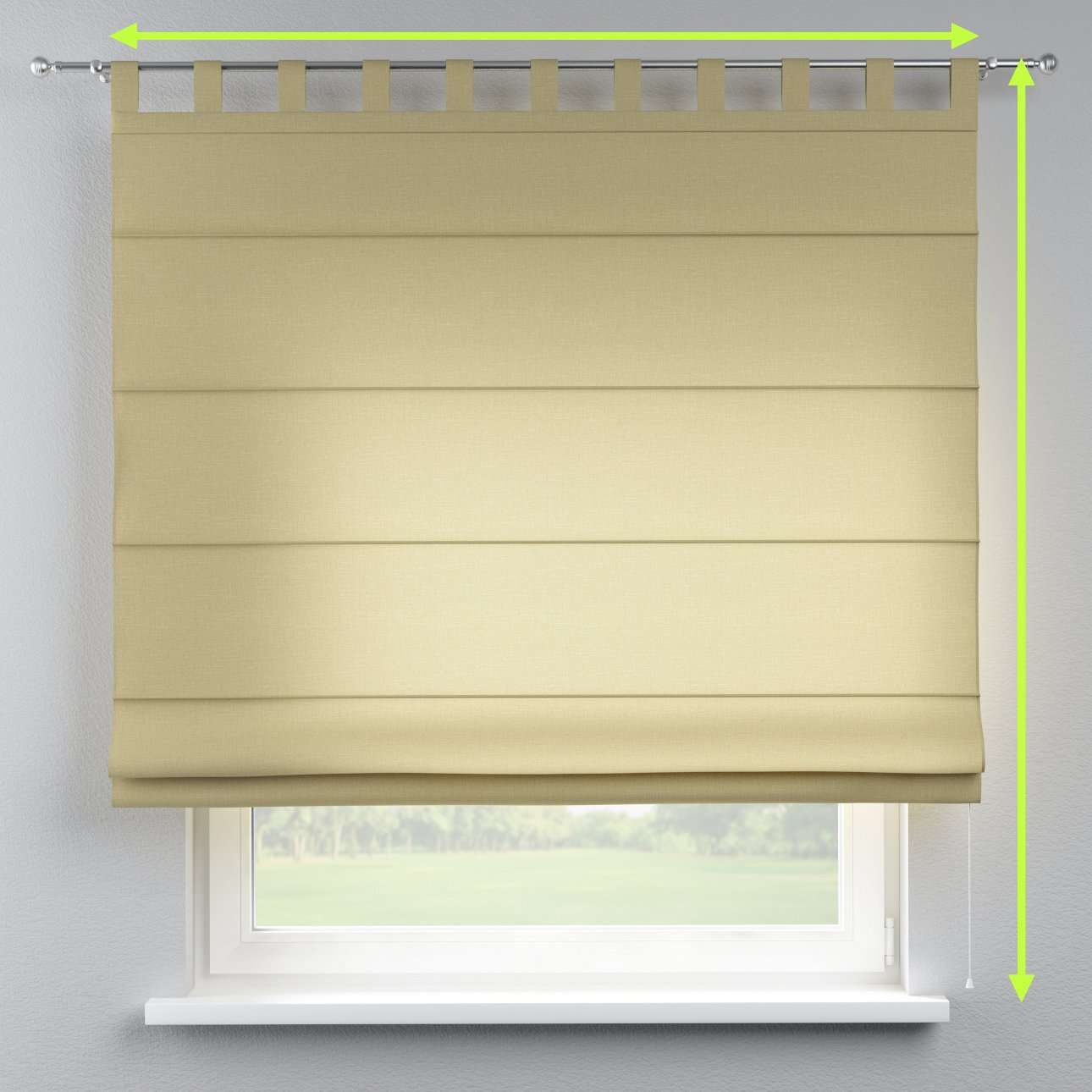 Verona tab top roman blind in collection Cardiff, fabric: 136-22