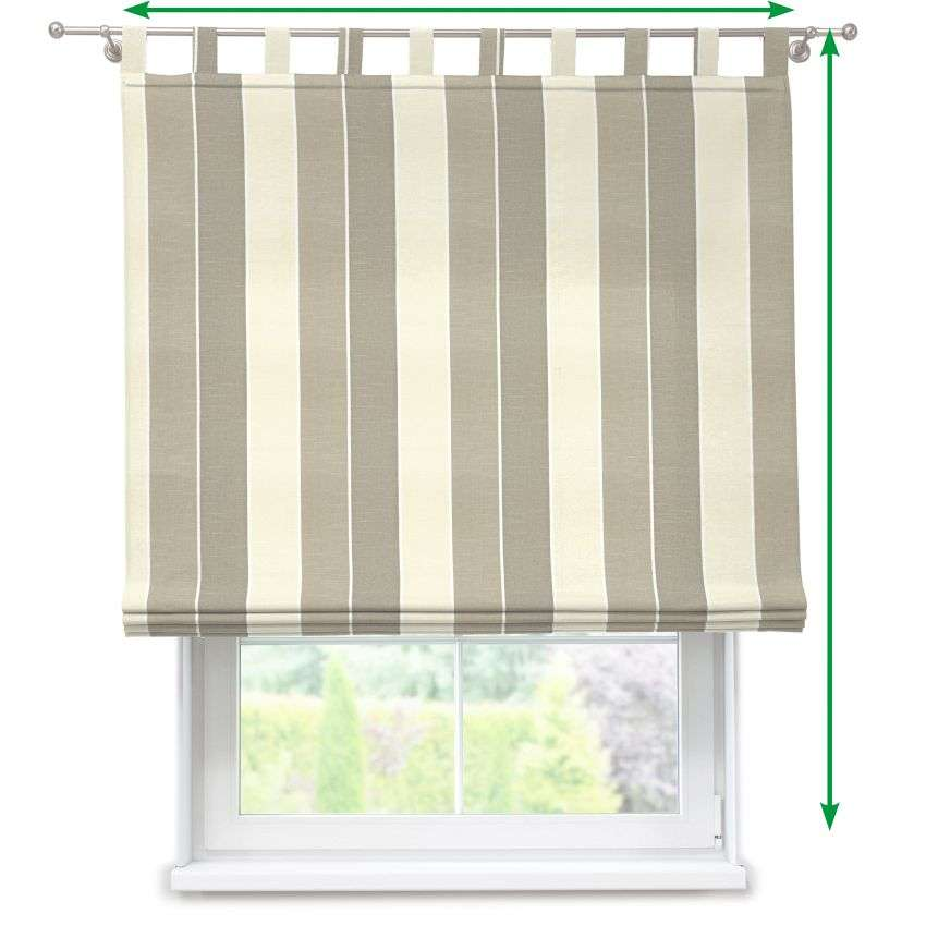 Verona tab top roman blind in collection Cardiff, fabric: 136-30