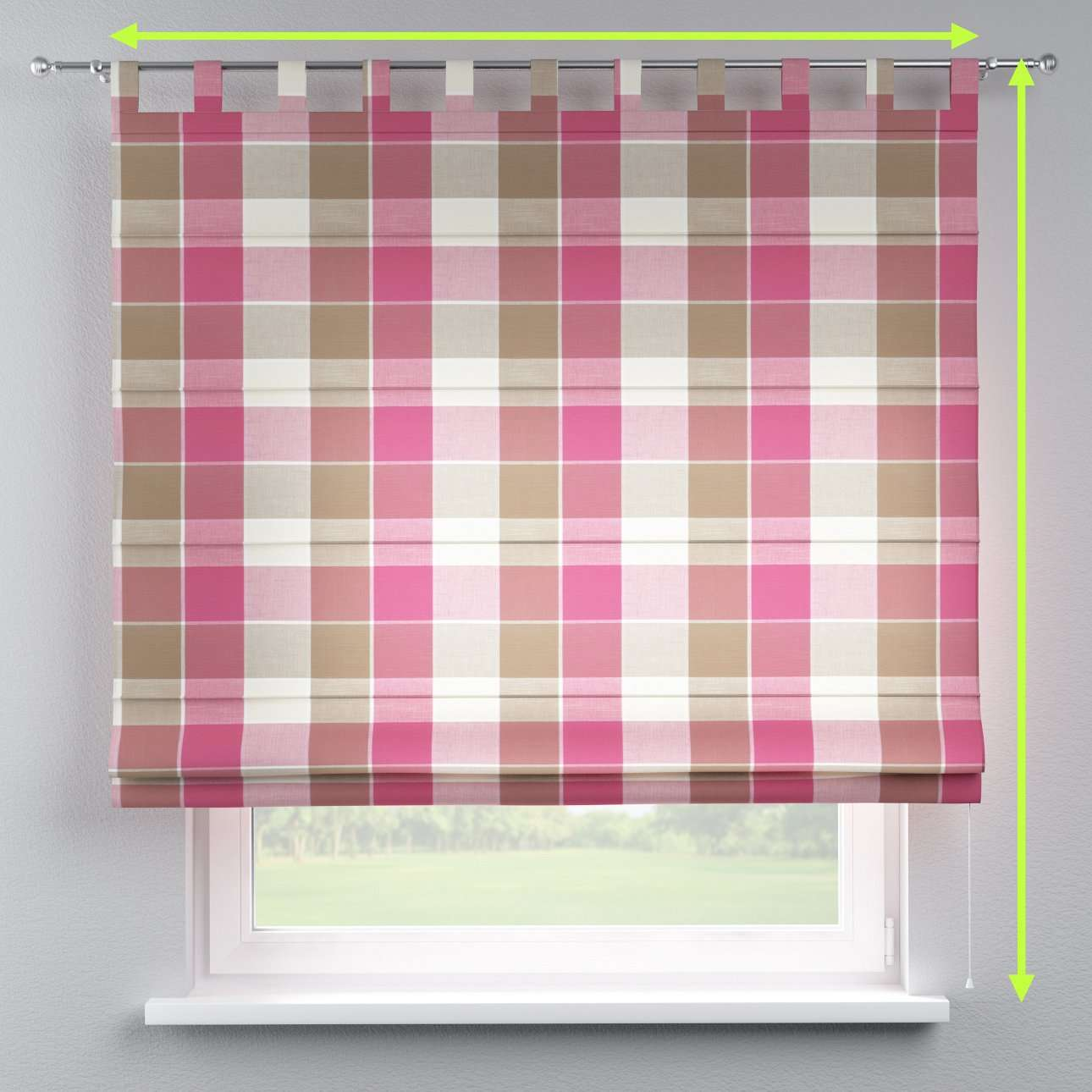 Verona tab top roman blind in collection Cardiff, fabric: 136-31