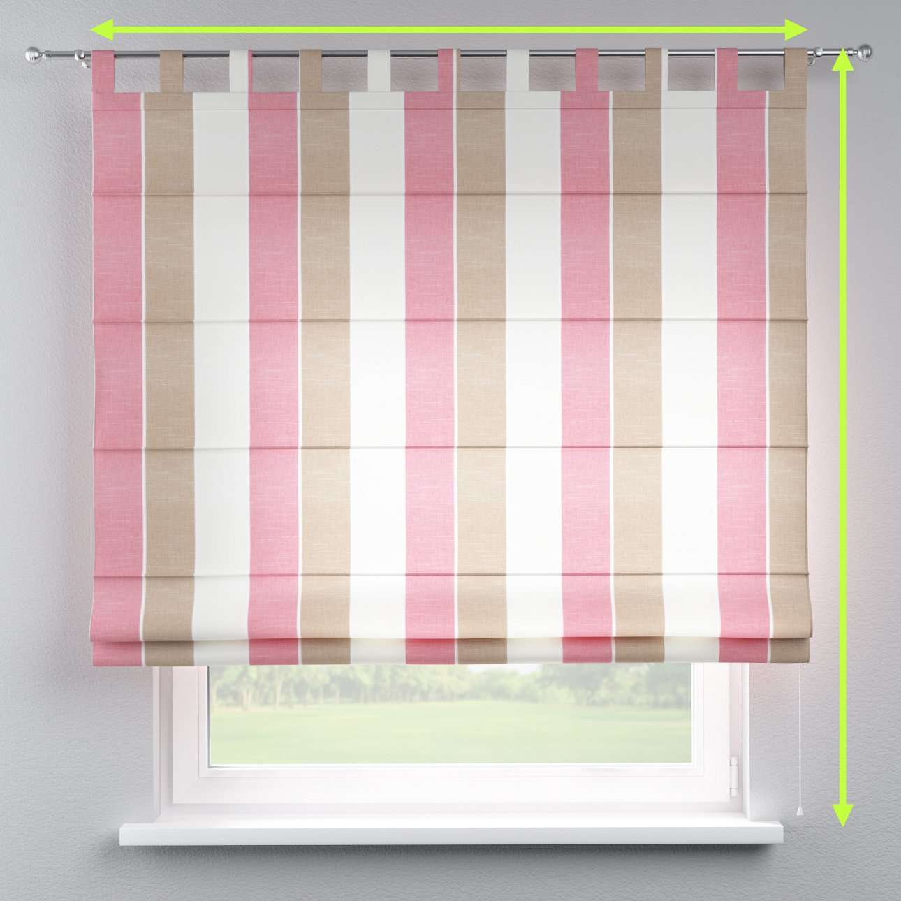 Verona tab top roman blind in collection Cardiff, fabric: 136-32