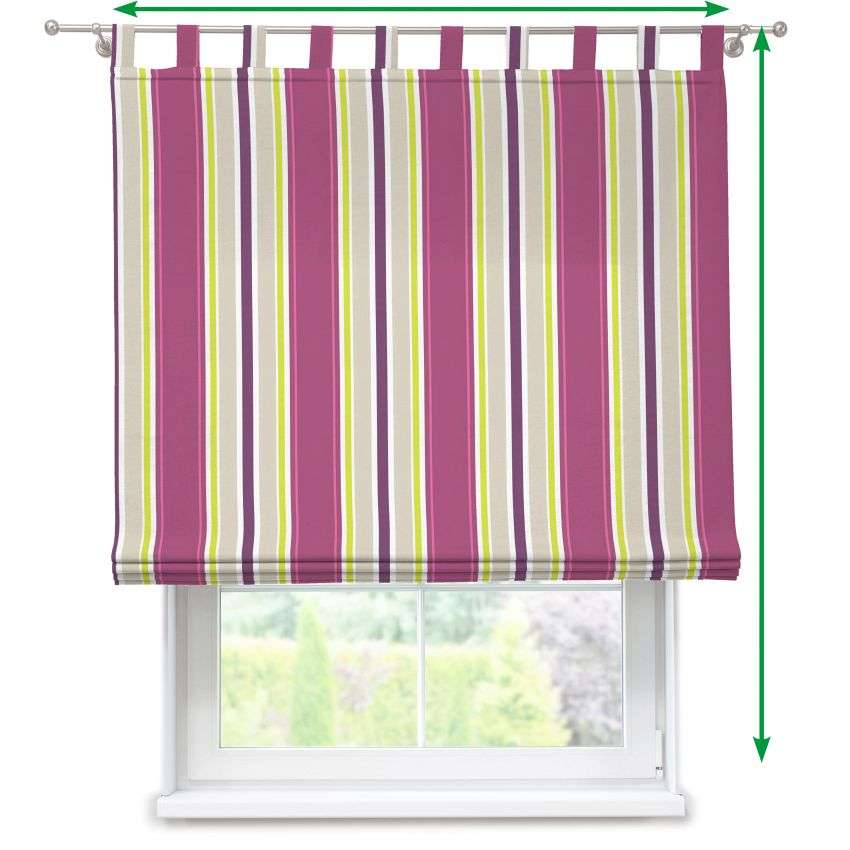 Verona tab top roman blind in collection Fleur , fabric: 137-22