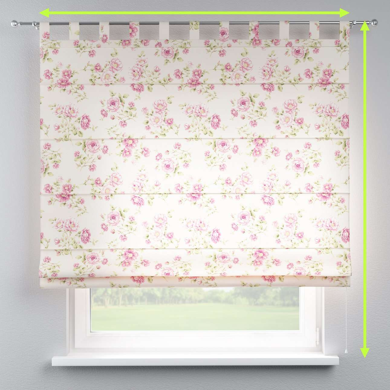 Verona tab top roman blind in collection Ashley, fabric: 137-43