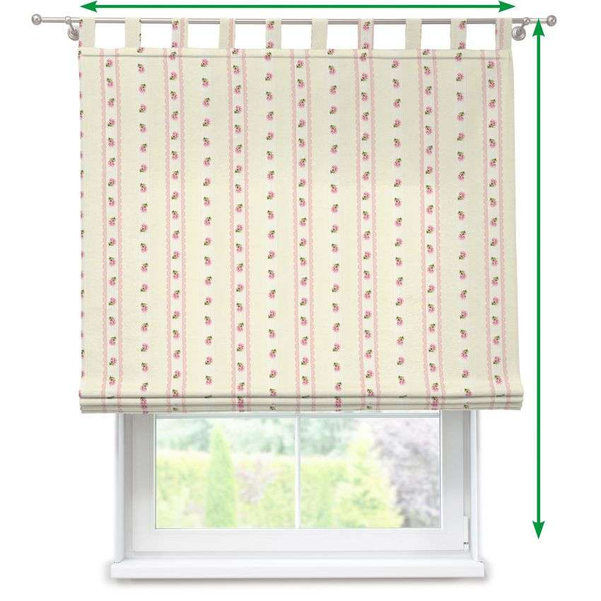 Verona tab top roman blind in collection Ashley, fabric: 137-44