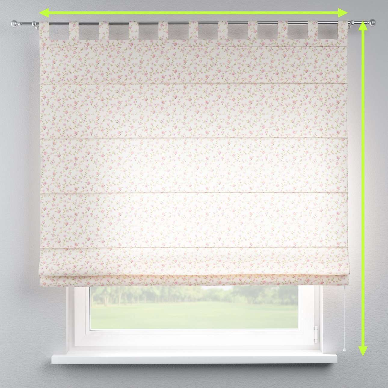 Verona tab top roman blind in collection Ashley, fabric: 137-45