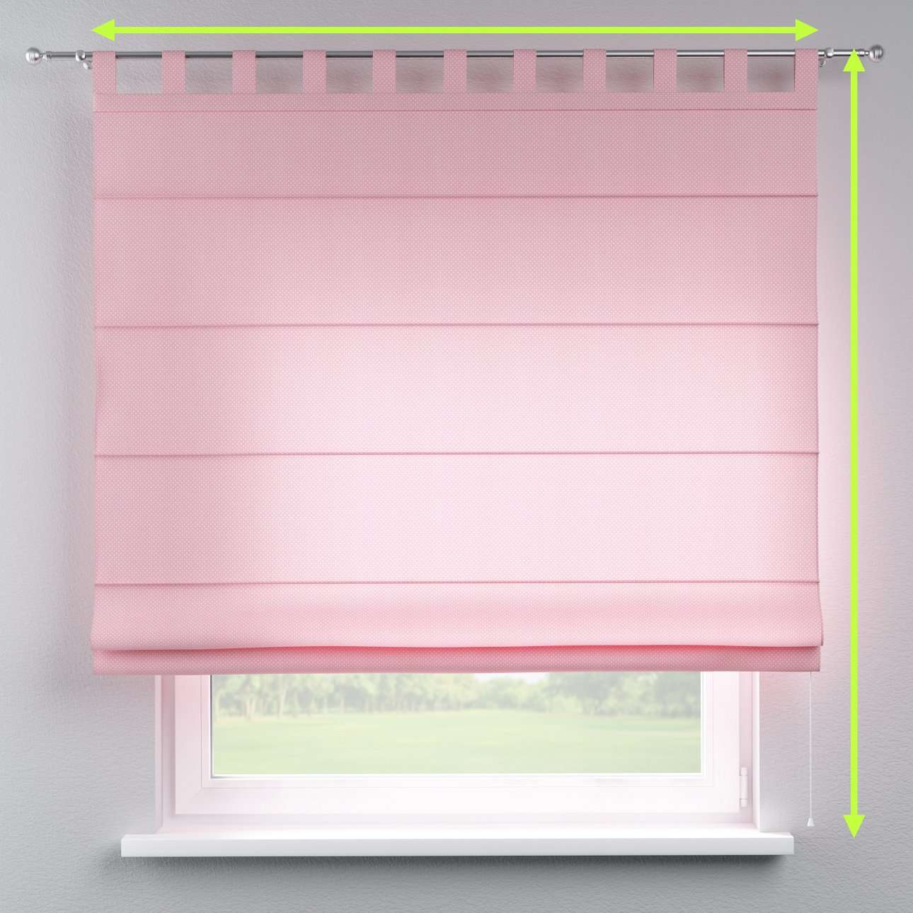 Verona tab top roman blind in collection Ashley, fabric: 137-46