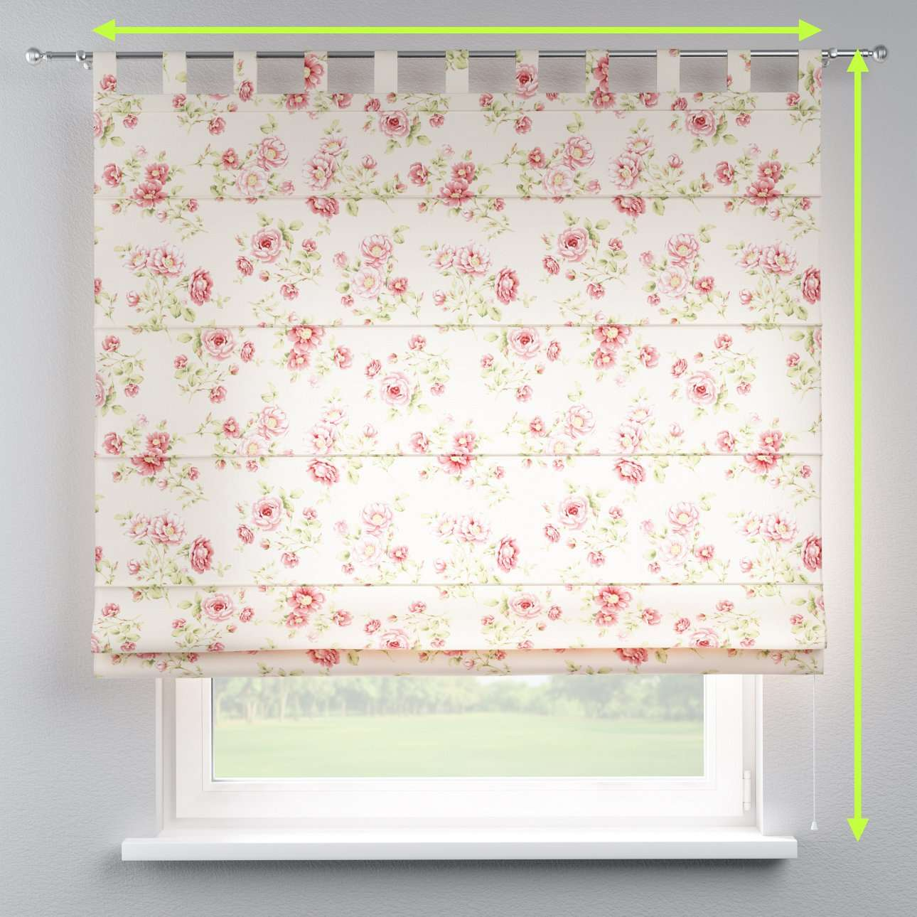 Verona tab top roman blind in collection Ashley, fabric: 137-47