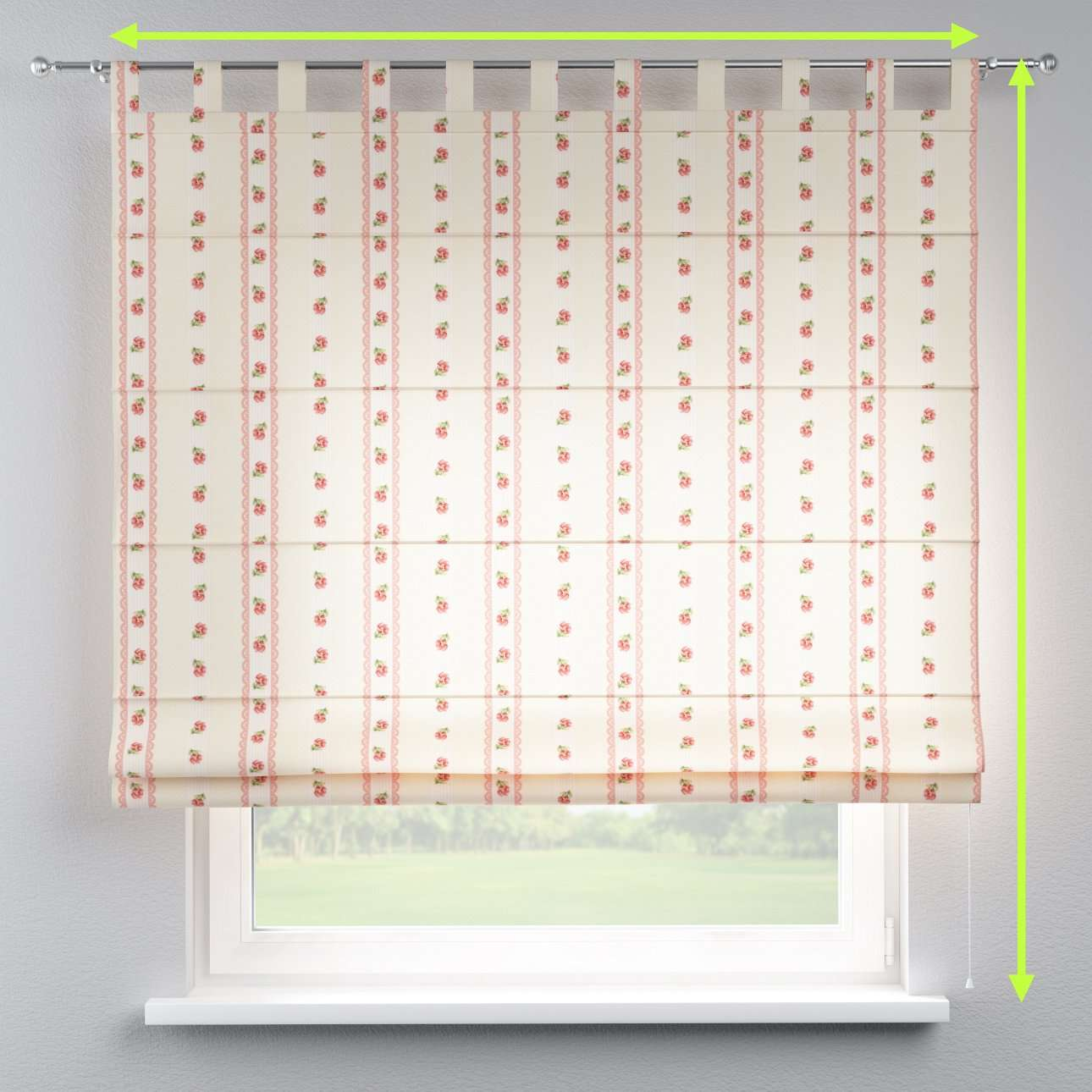 Verona tab top roman blind in collection Ashley, fabric: 137-48