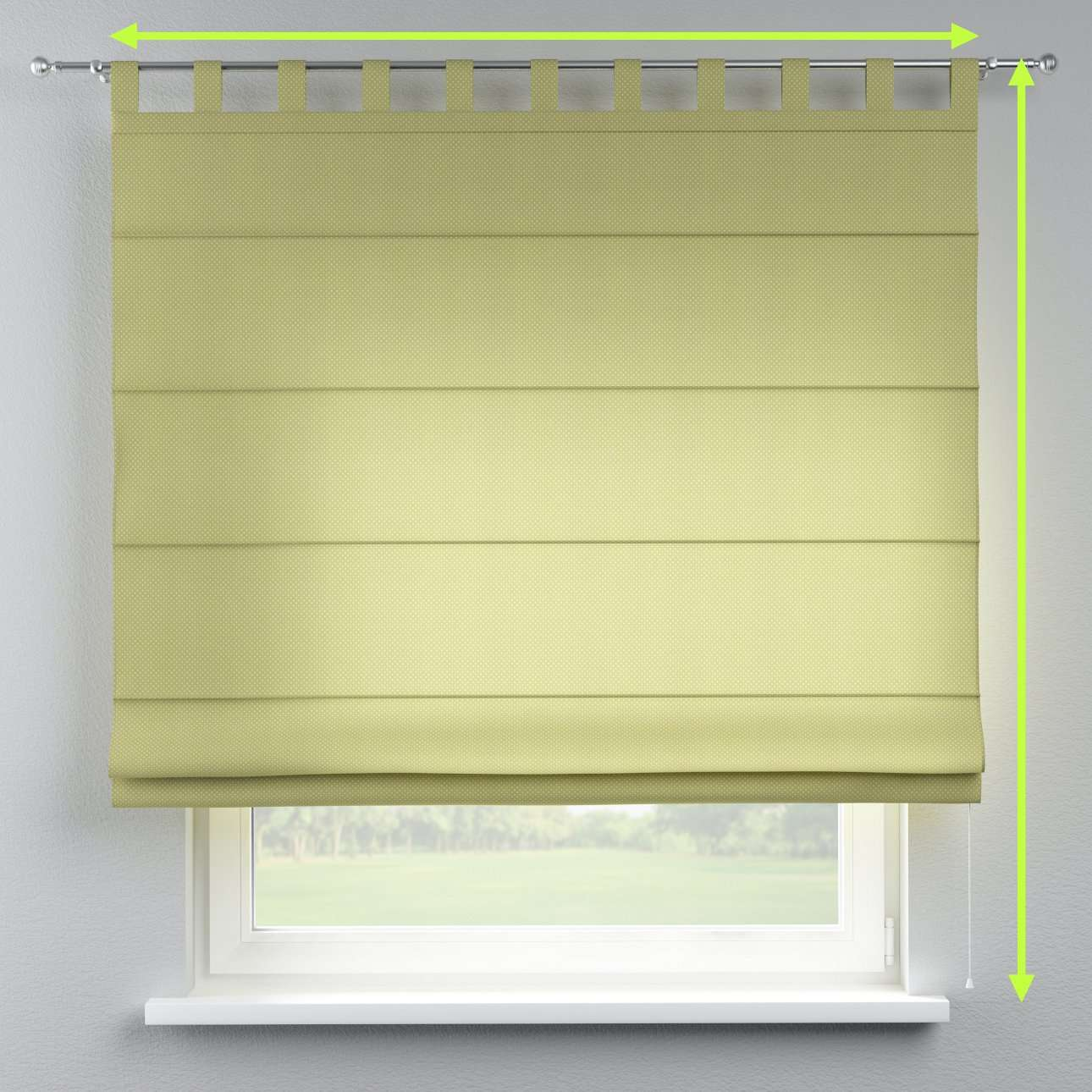 Verona tab top roman blind in collection Ashley, fabric: 137-51