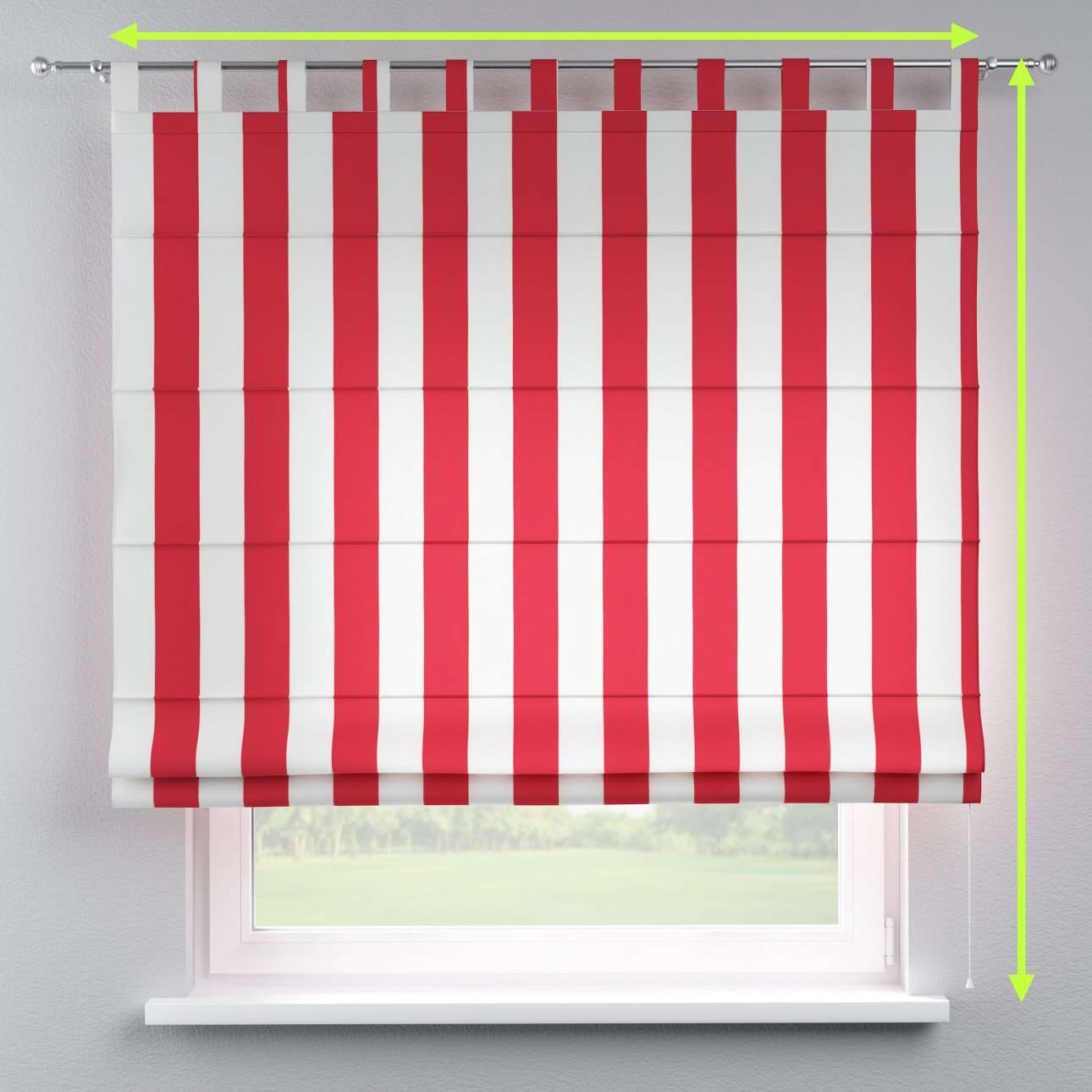 Verona tab top roman blind in collection Comics/Geometrical, fabric: 137-54