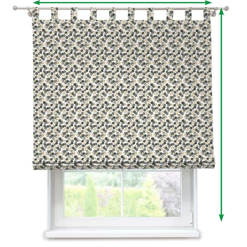 Verona tab top roman blind in collection Fleur , fabric: 137-57