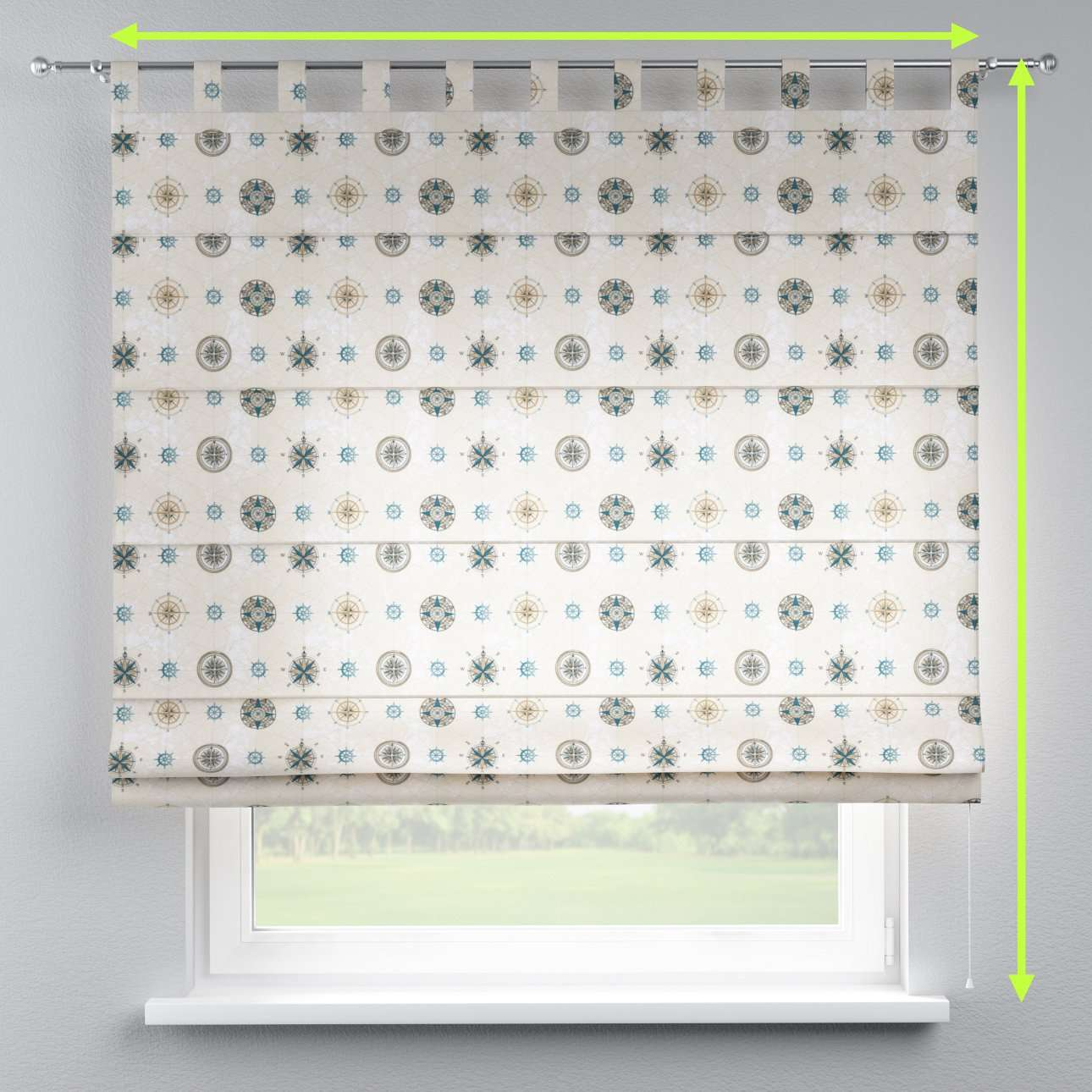 Verona tab top roman blind in collection Freestyle, fabric: 137-63