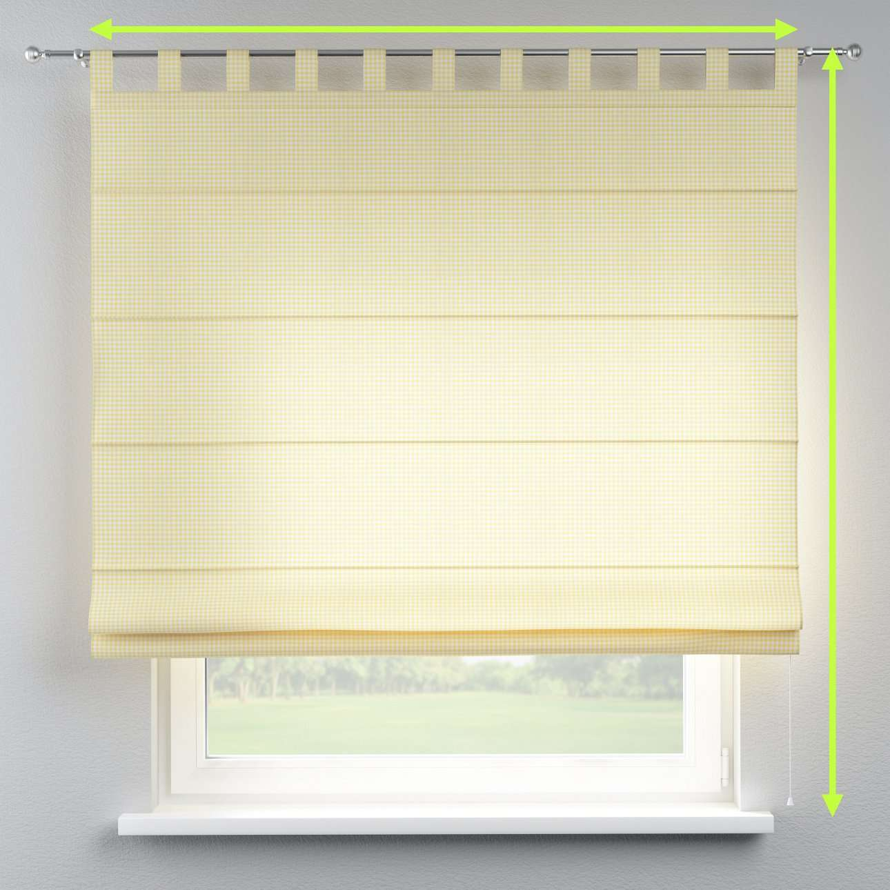 Verona tab top roman blind in collection Ashley, fabric: 137-64