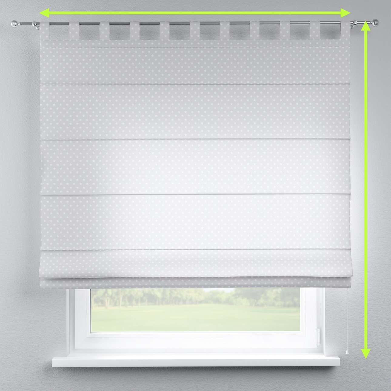 Verona tab top roman blind in collection Ashley, fabric: 137-67