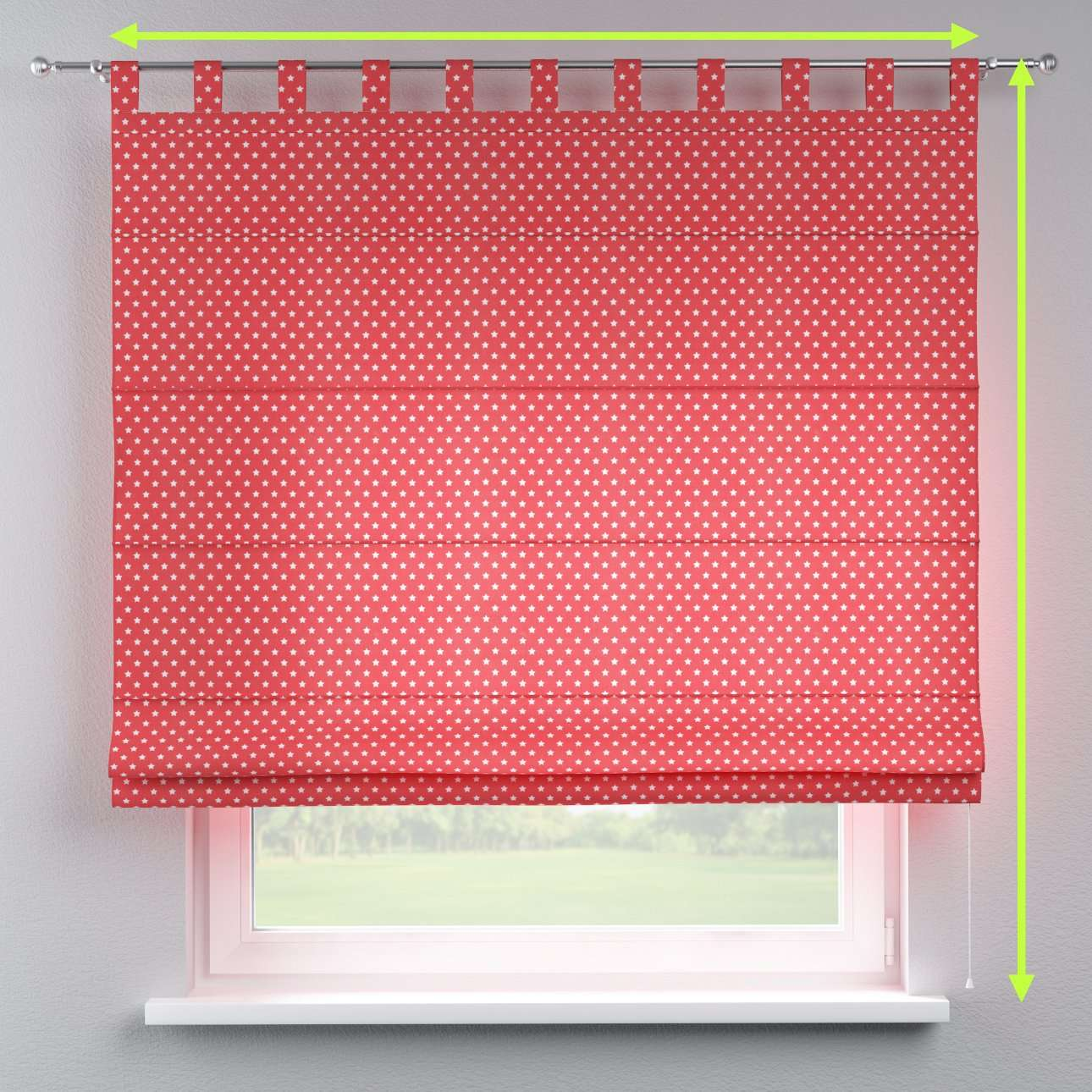 Verona tab top roman blind in collection Ashley, fabric: 137-69