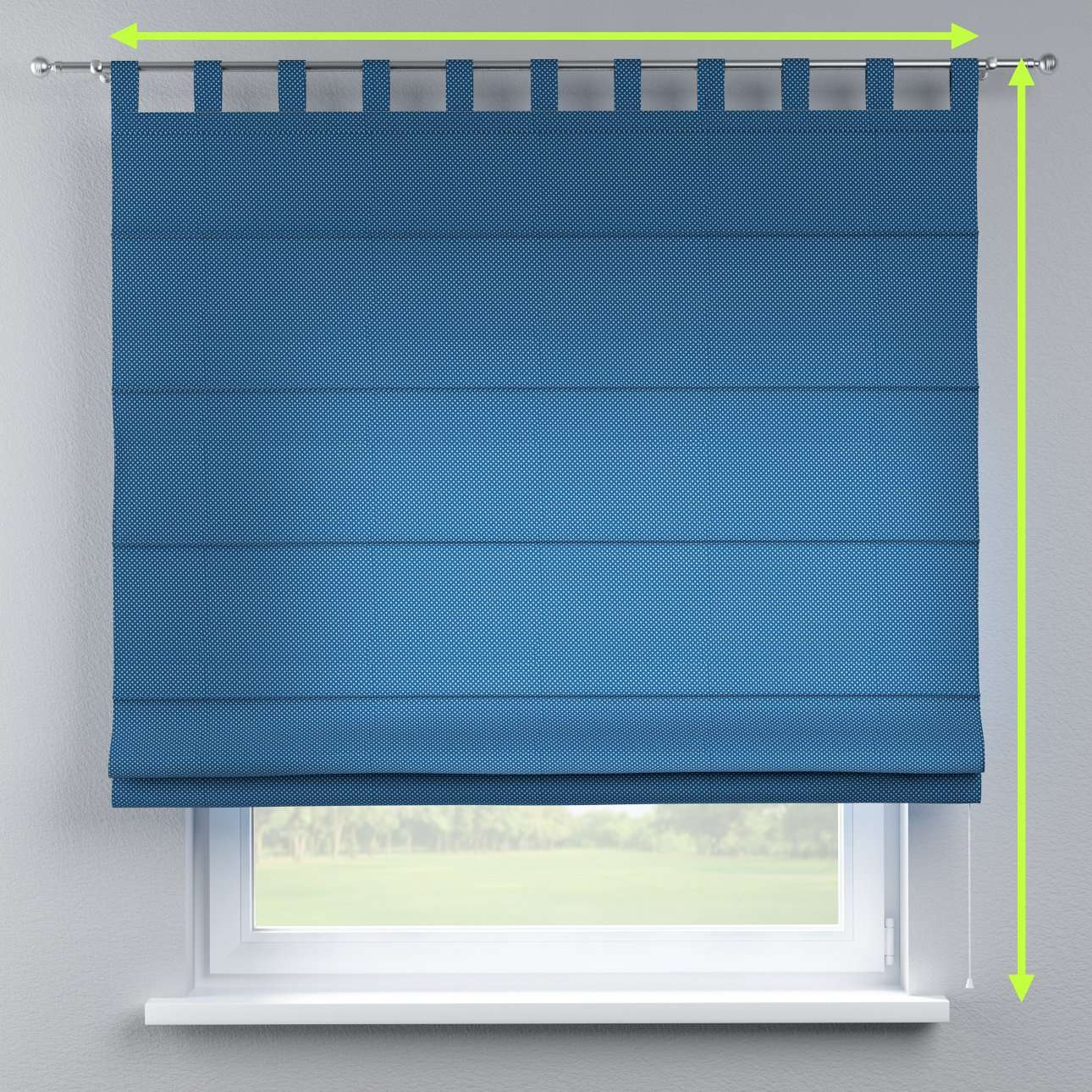 Verona tab top roman blind in collection Ashley, fabric: 137-73