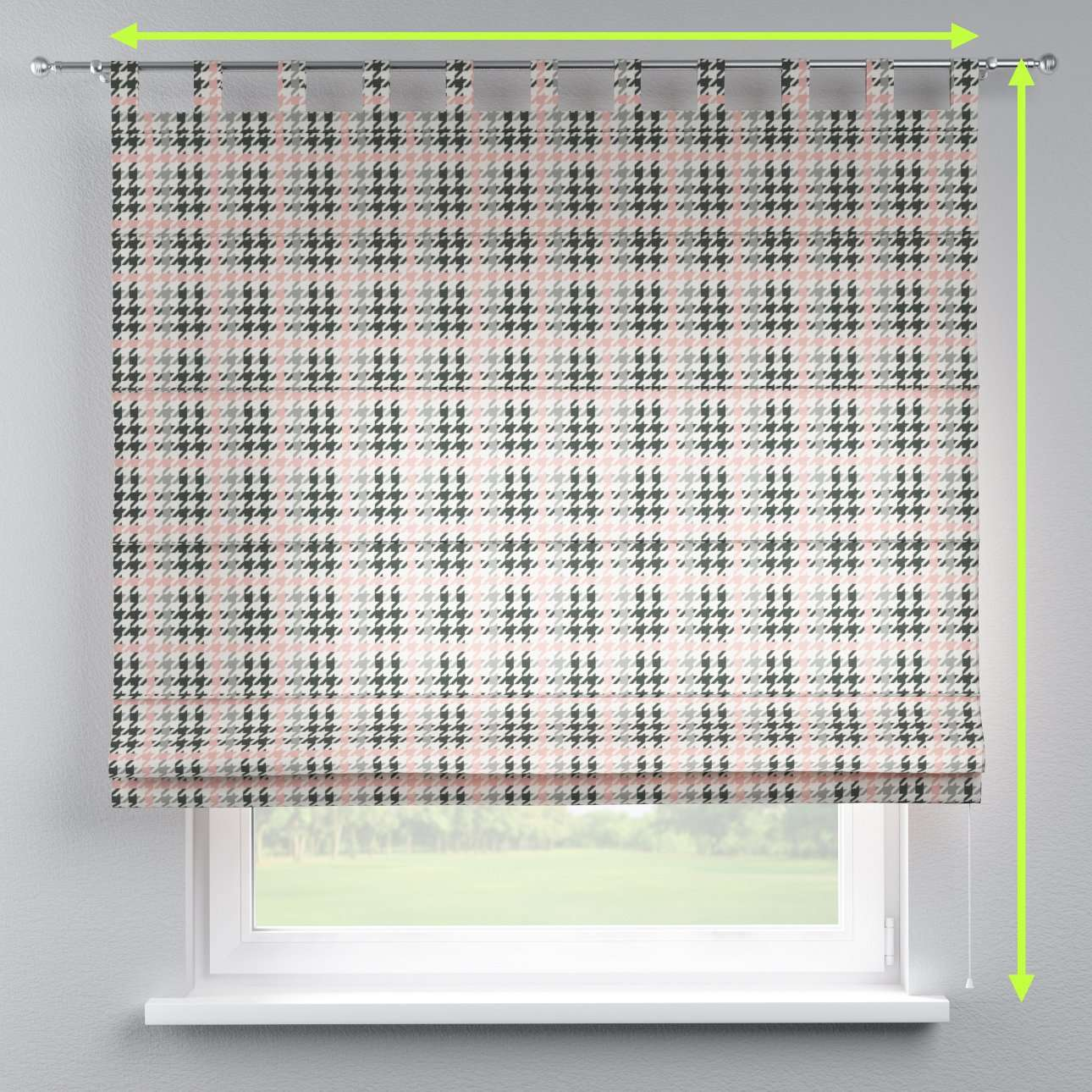 Verona tab top roman blind in collection Brooklyn, fabric: 137-75
