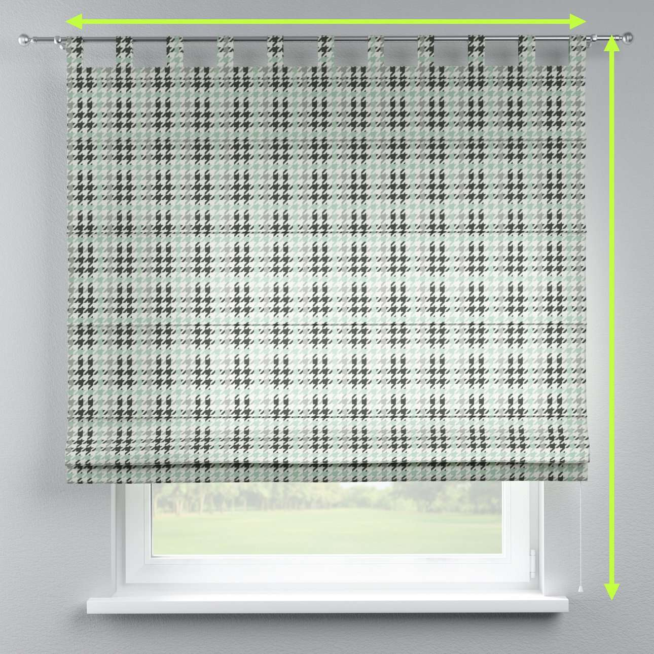 Verona tab top roman blind in collection Brooklyn, fabric: 137-77