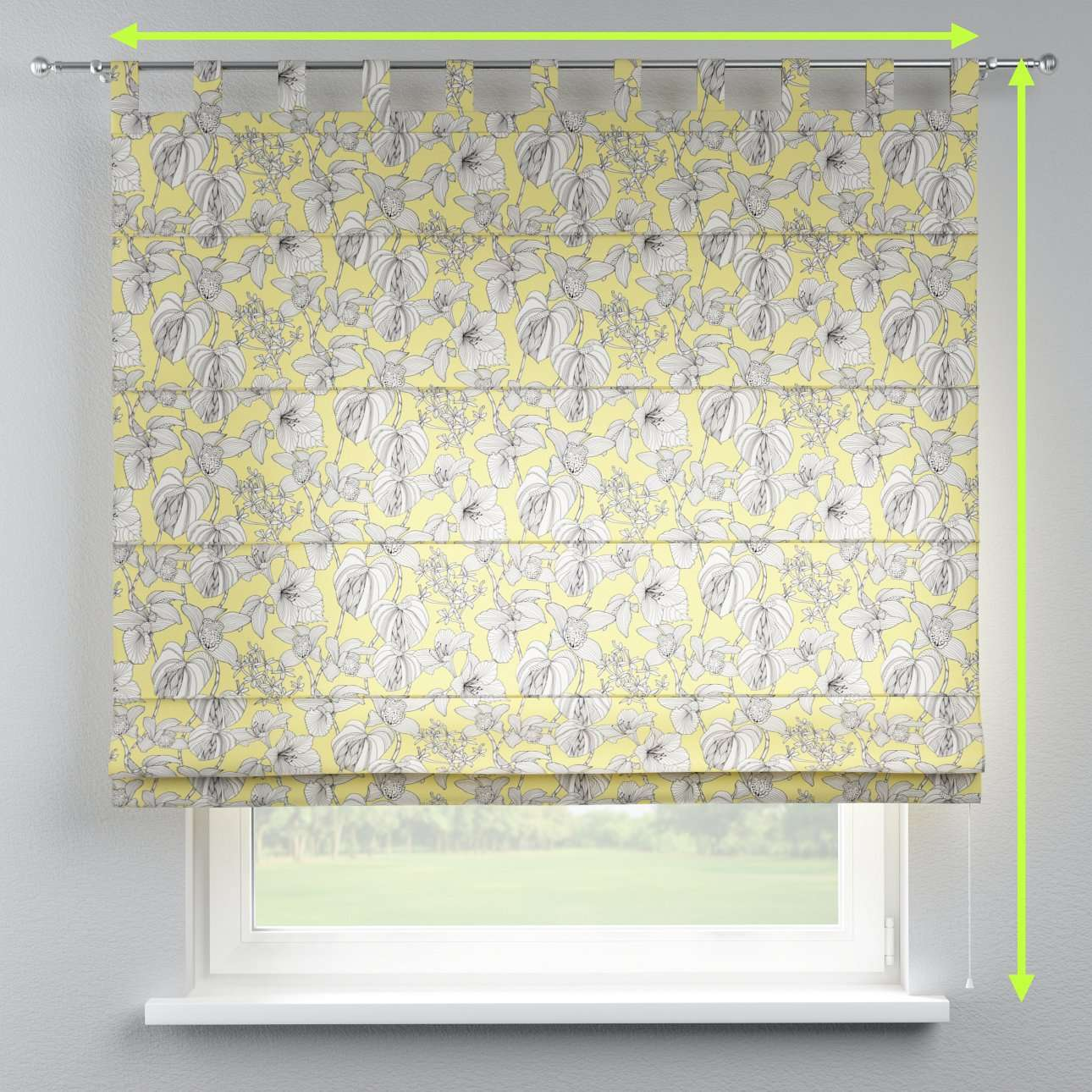 Verona tab top roman blind in collection Brooklyn, fabric: 137-78