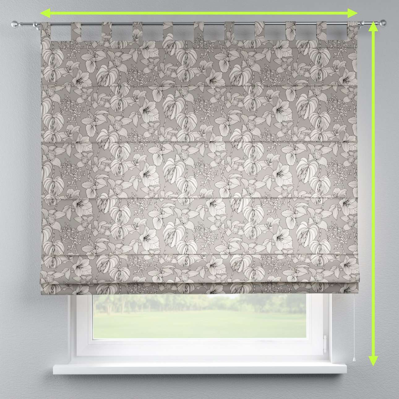 Verona tab top roman blind in collection Brooklyn, fabric: 137-80