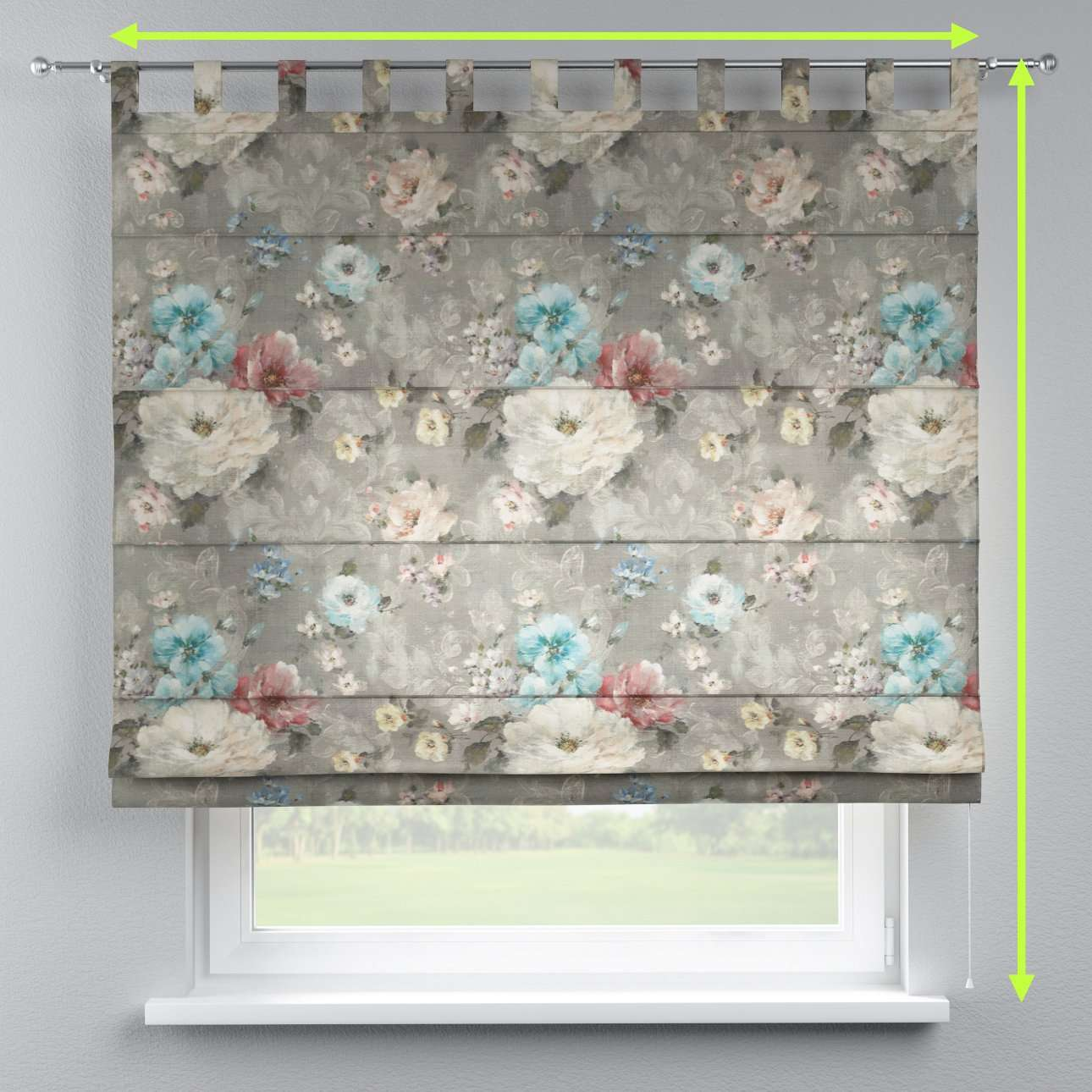 Verona tab top roman blind in collection Monet, fabric: 137-81