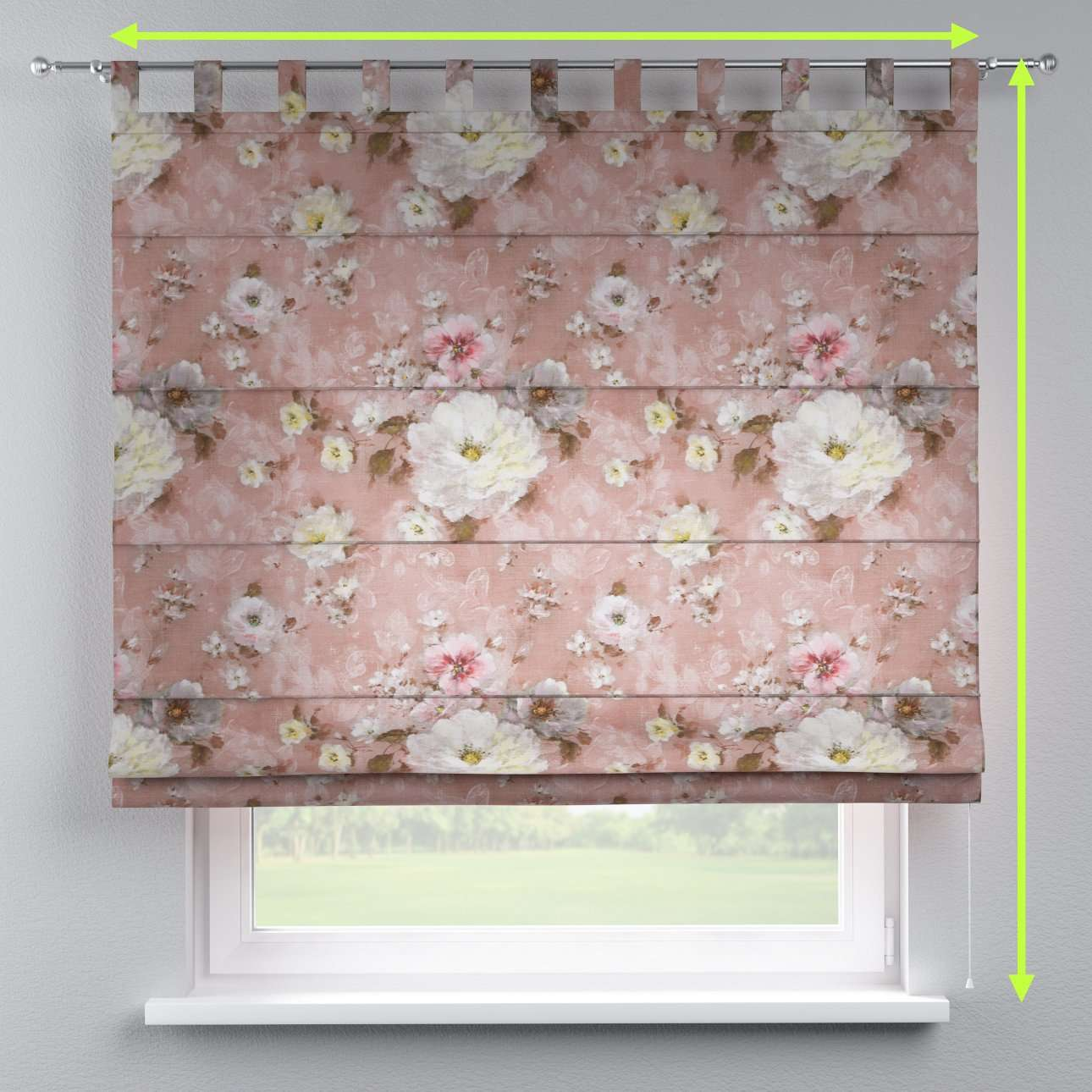 Verona tab top roman blind in collection Monet, fabric: 137-83