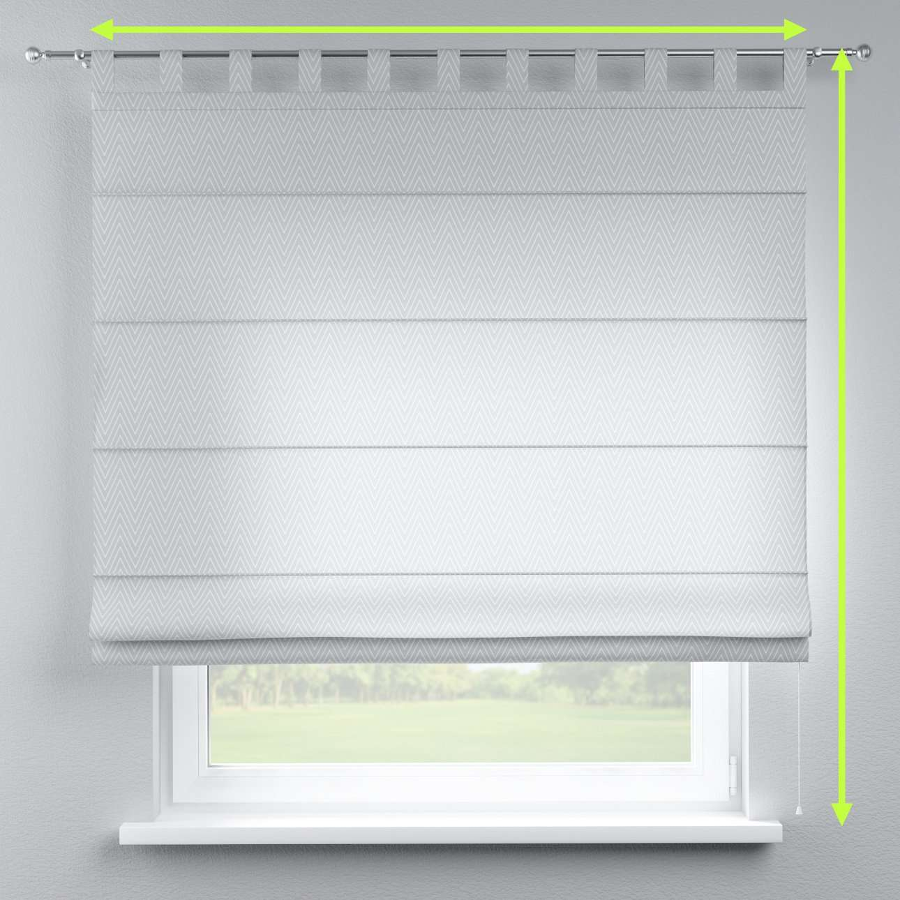 Verona tab top roman blind in collection Brooklyn, fabric: 137-87
