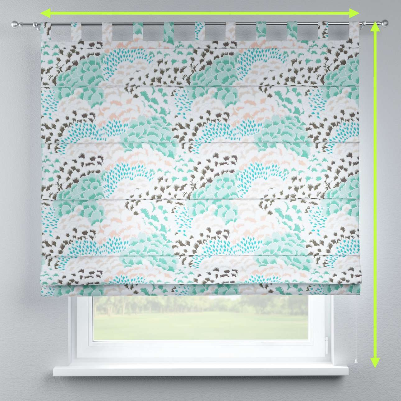 Verona tab top roman blind in collection Brooklyn, fabric: 137-89