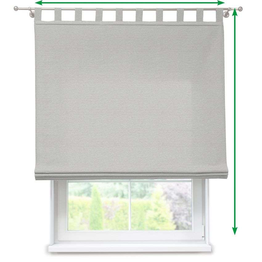Verona tab top roman blind in collection Rustica, fabric: 138-12
