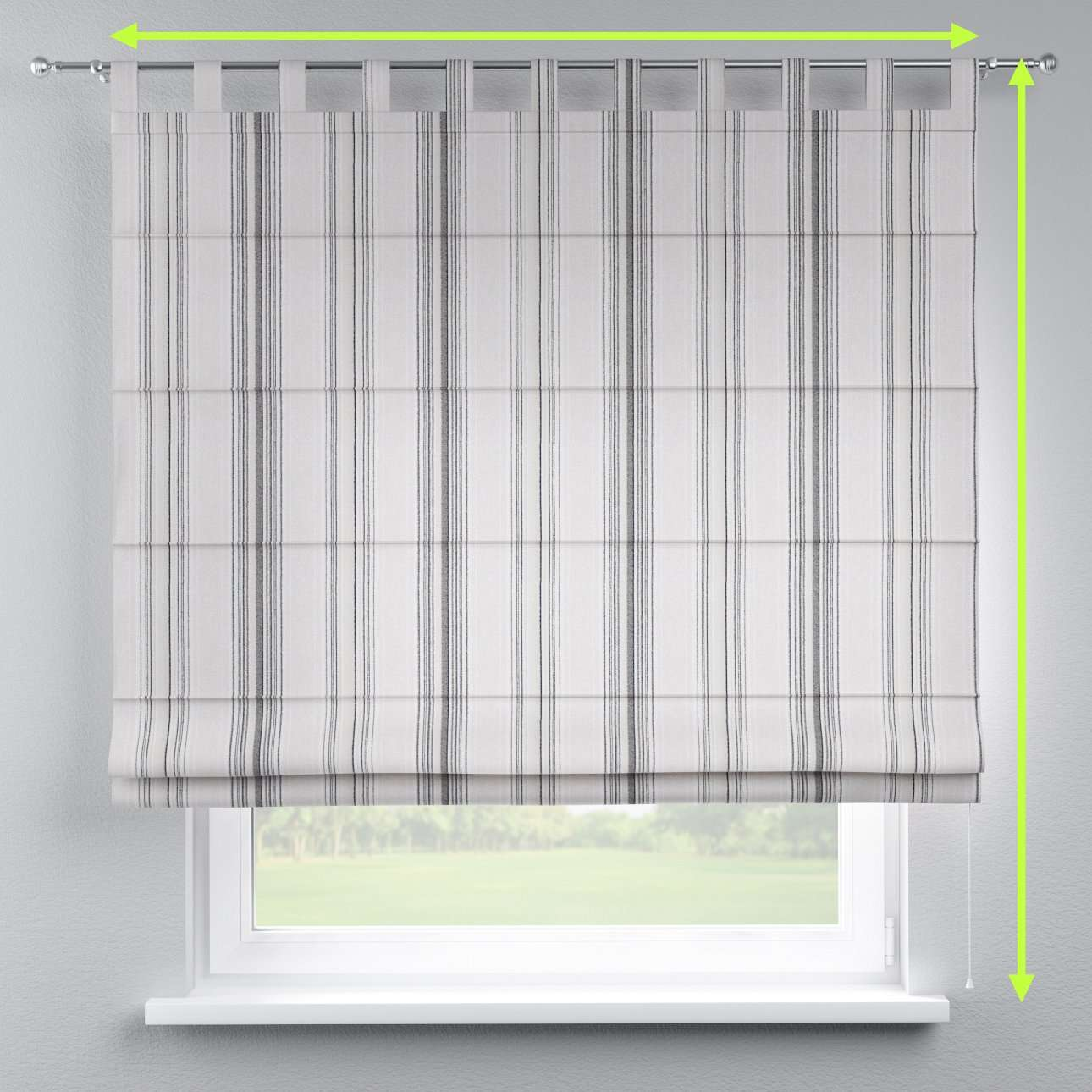 Verona tab top roman blind in collection Rustica, fabric: 138-15