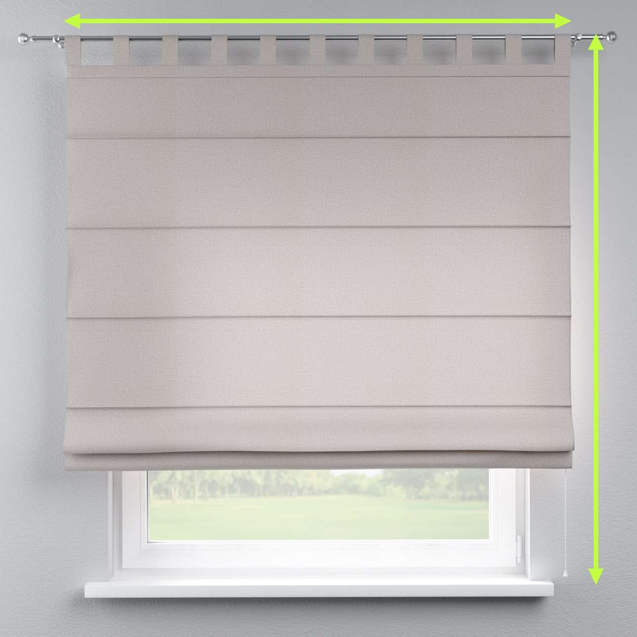 Verona tab top roman blind in collection Rustica, fabric: 138-22