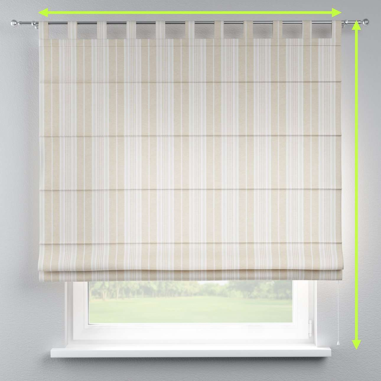 Verona tab top roman blind in collection Rustica, fabric: 138-24