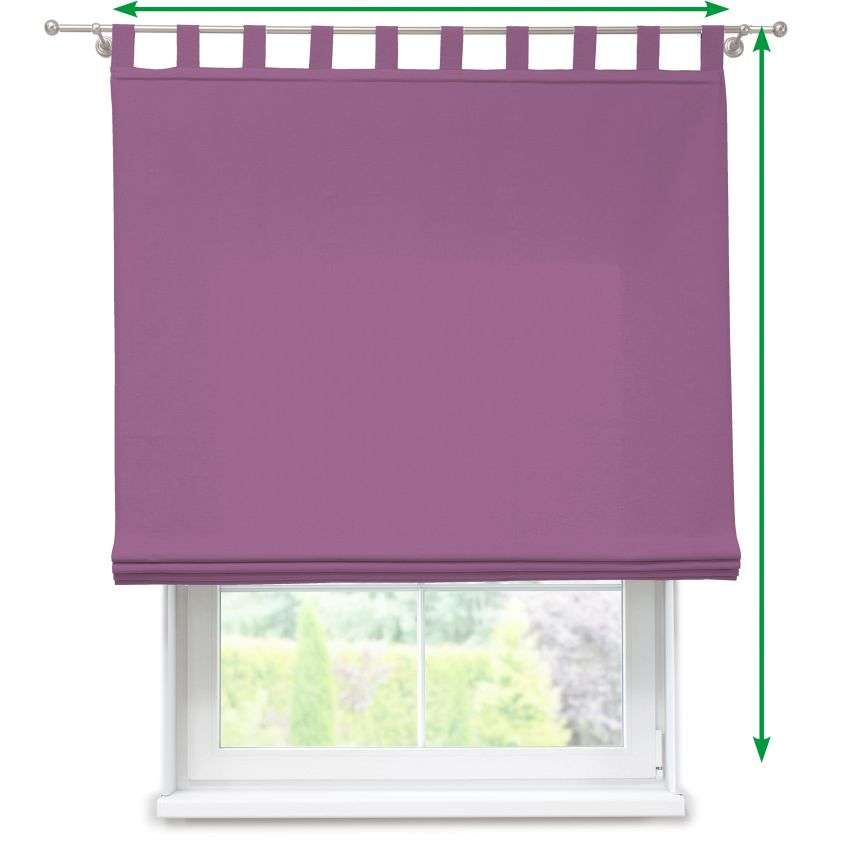 Verona tab top roman blind in collection Fleur , fabric: 139-93