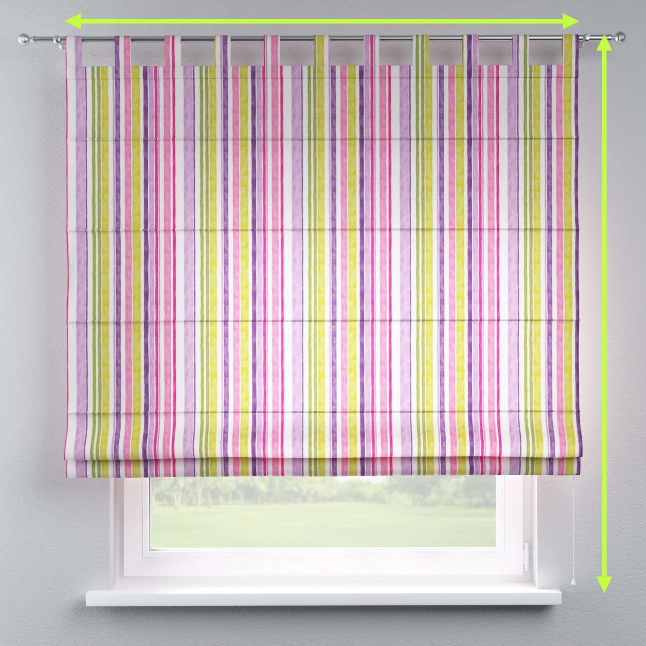 Verona tab top roman blind in collection Monet, fabric: 140-01
