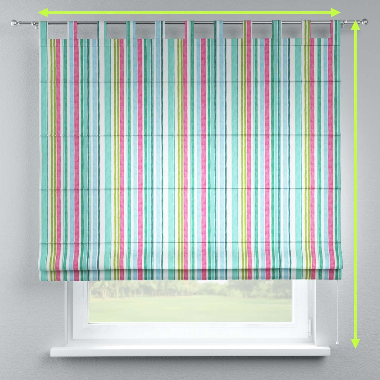 Verona tab top roman blind in collection Monet, fabric: 140-03