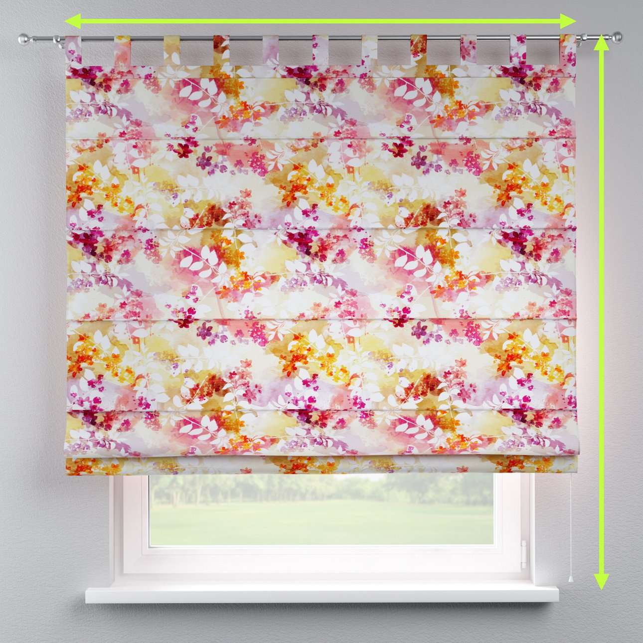 Verona tab top roman blind in collection Monet, fabric: 140-05